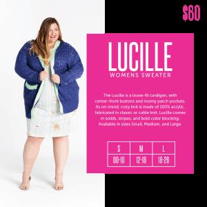 LuLaRoe Lucille Size