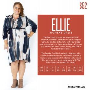 LuLaRoe Ellie Size Chart