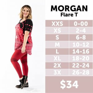 LuLaRoe Morgan Sizing