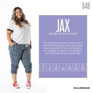 LuLaRoe Jax Size Chart
